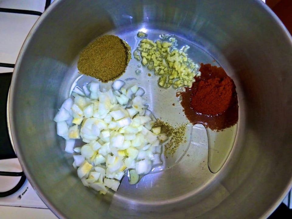 ingredients for locro de papa, ecuadorian soup