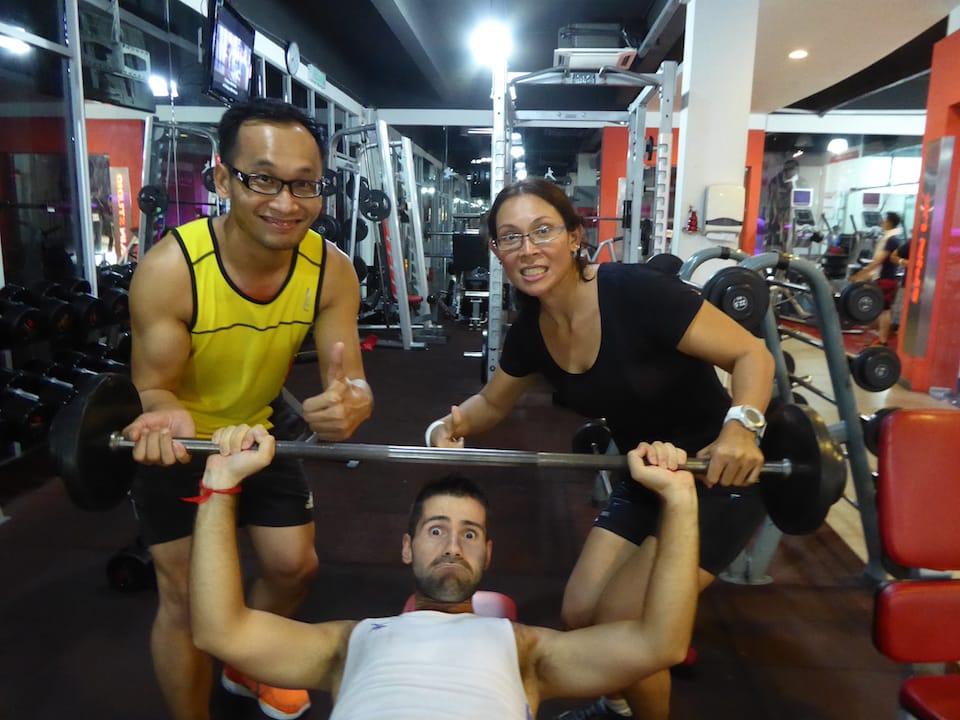 how we keep fit while travelling local gym