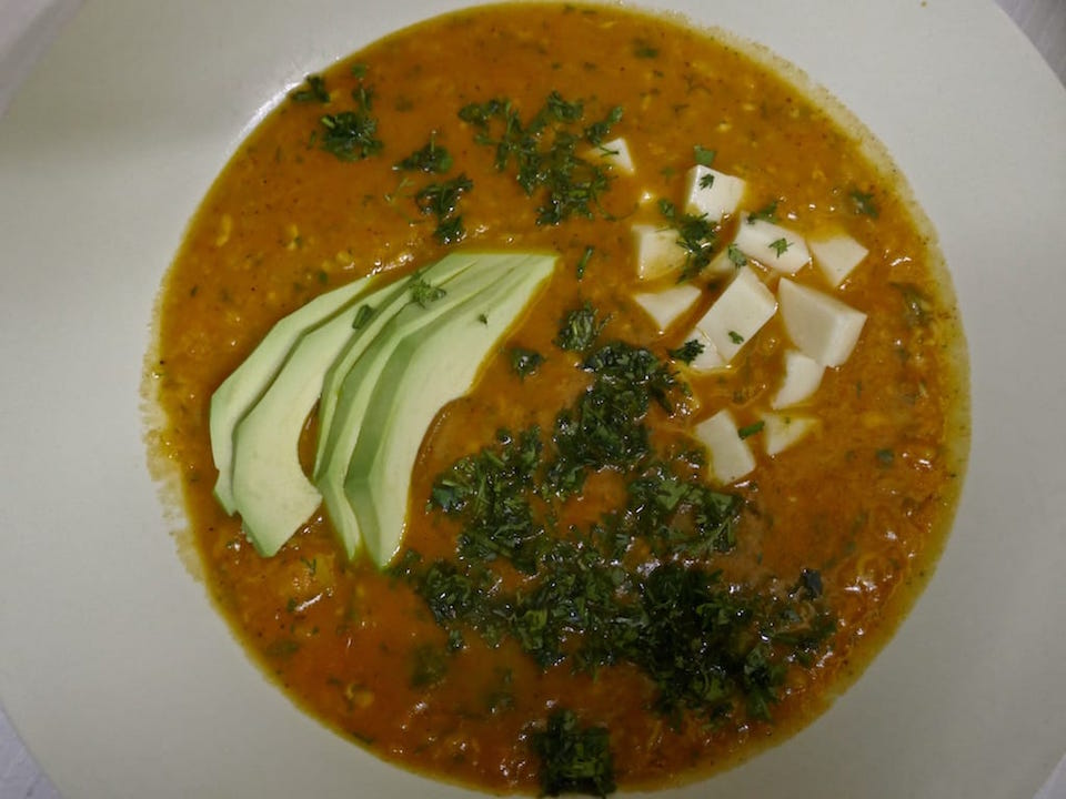 Recipe for locro de papa