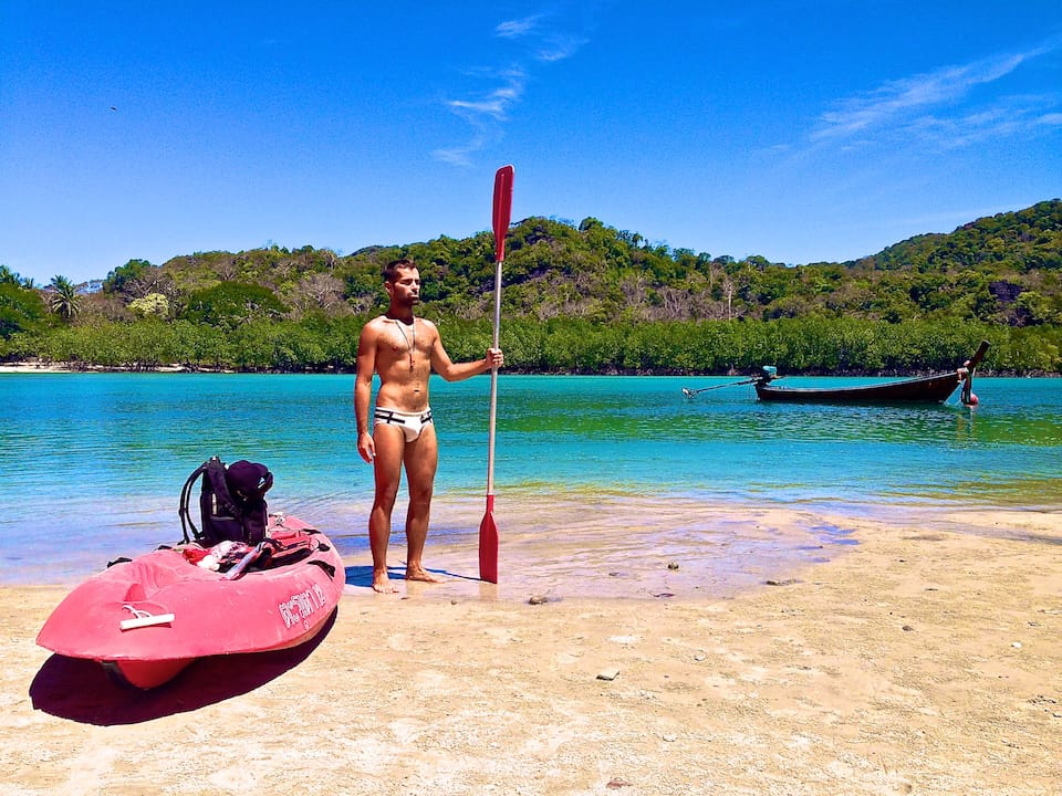 how to keep fit while travelling kayaking