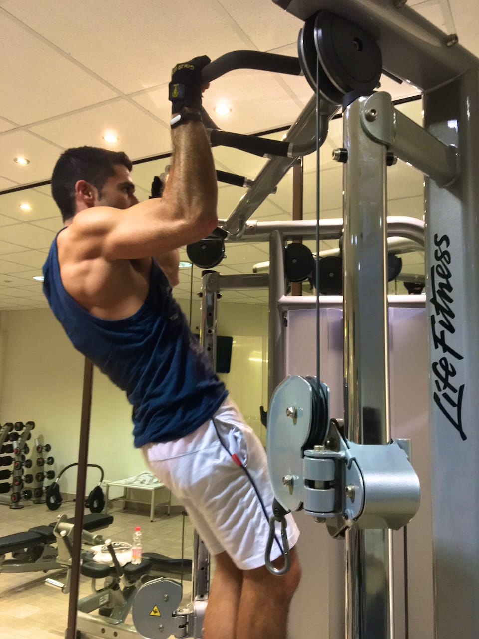 how we keep fit while traveling local gym Quito
