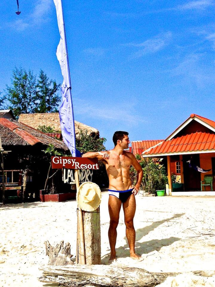 How to keep fit while travelling speedos in Koh Lipe