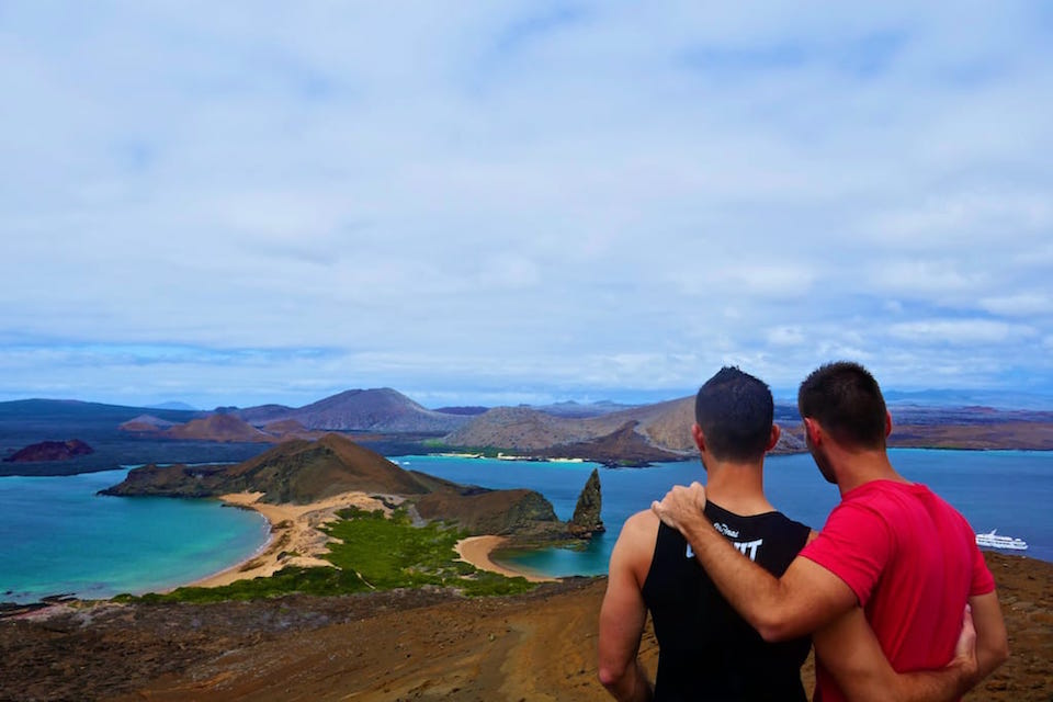 Pinnacle Rock Bartolme Island part of East islands Galapagos itinerary