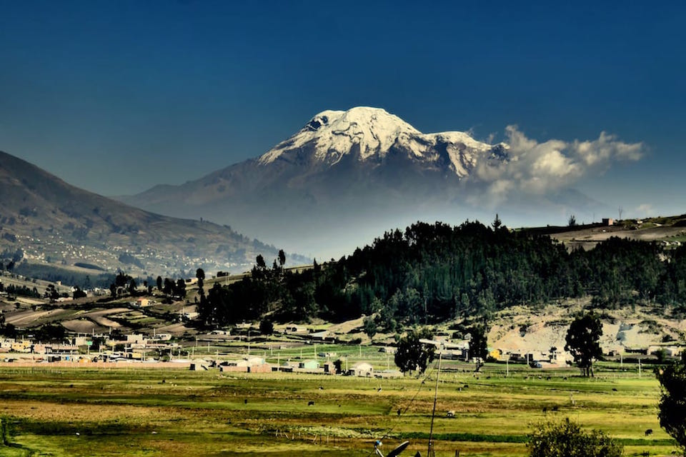 interesting facts ecuador chimborazo mountain
