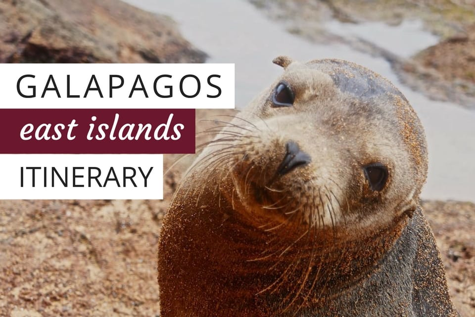 East islands Galapagos itinerary
