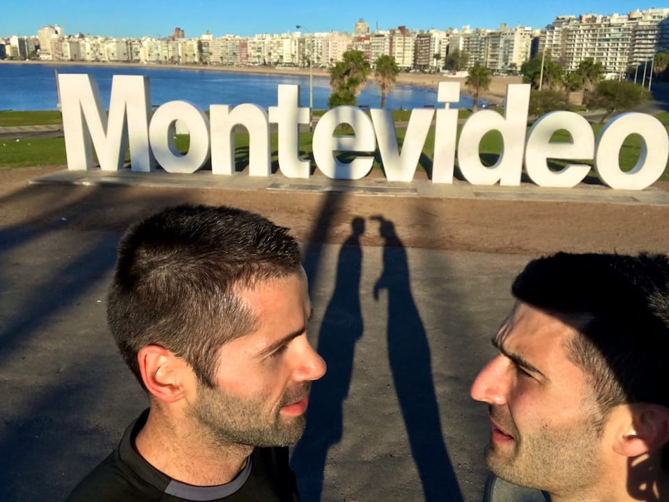 gay scene of Montevideo selfie sign