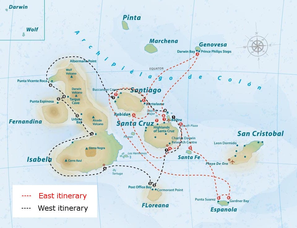 luxury cruise galapagos itinerary