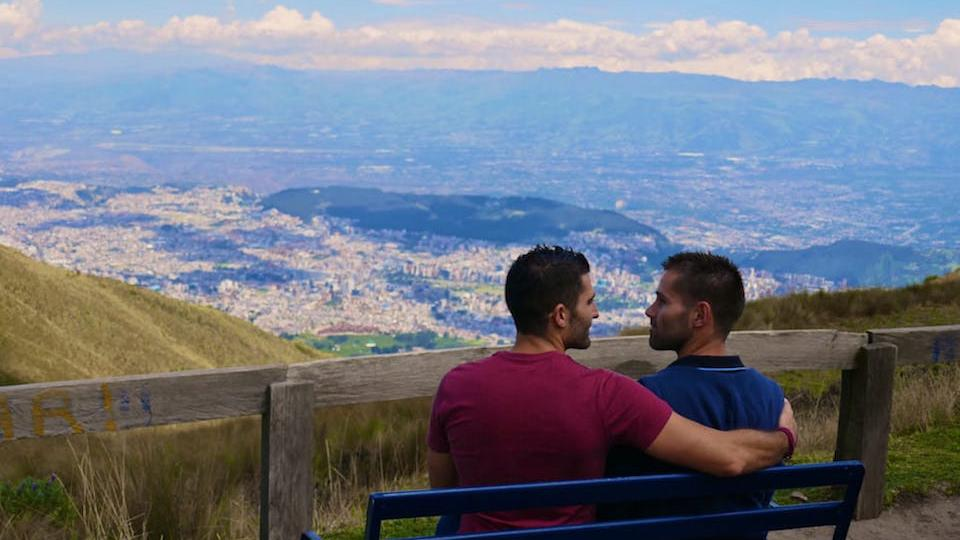 gay life in Ecuador Quito view Stef Seb
