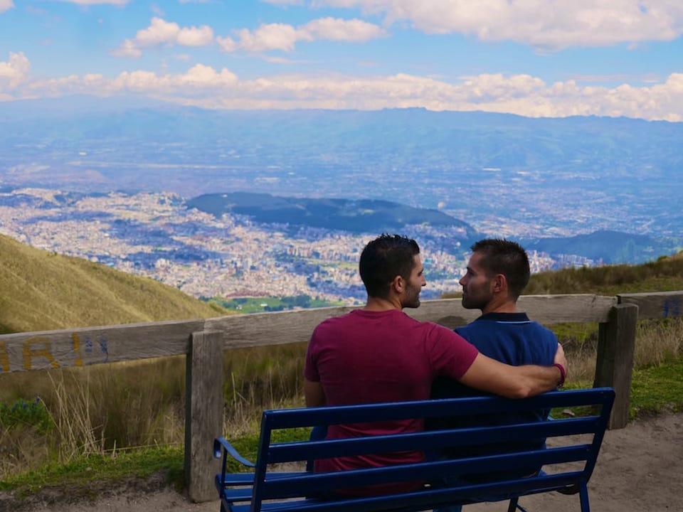 gay life in Ecuador Quito view Stef Seb