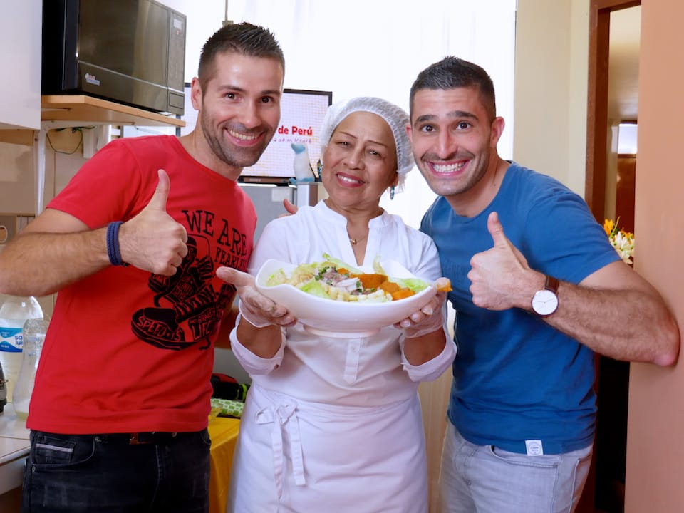 gay guide Lima cooking class with Aaron's mum