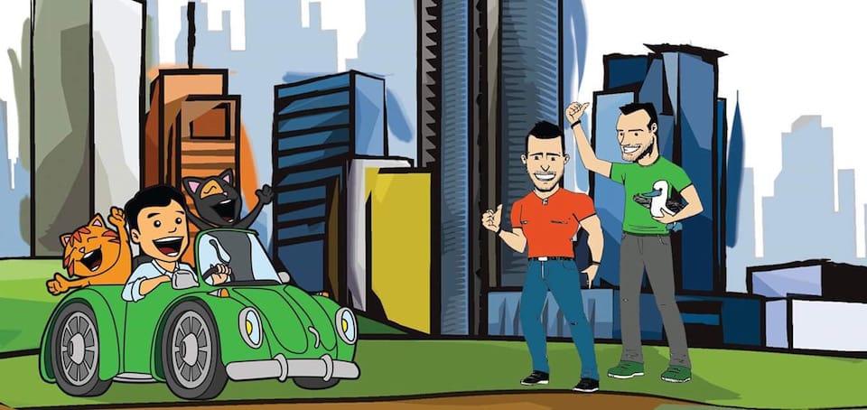 Nomadic Boys cartoon