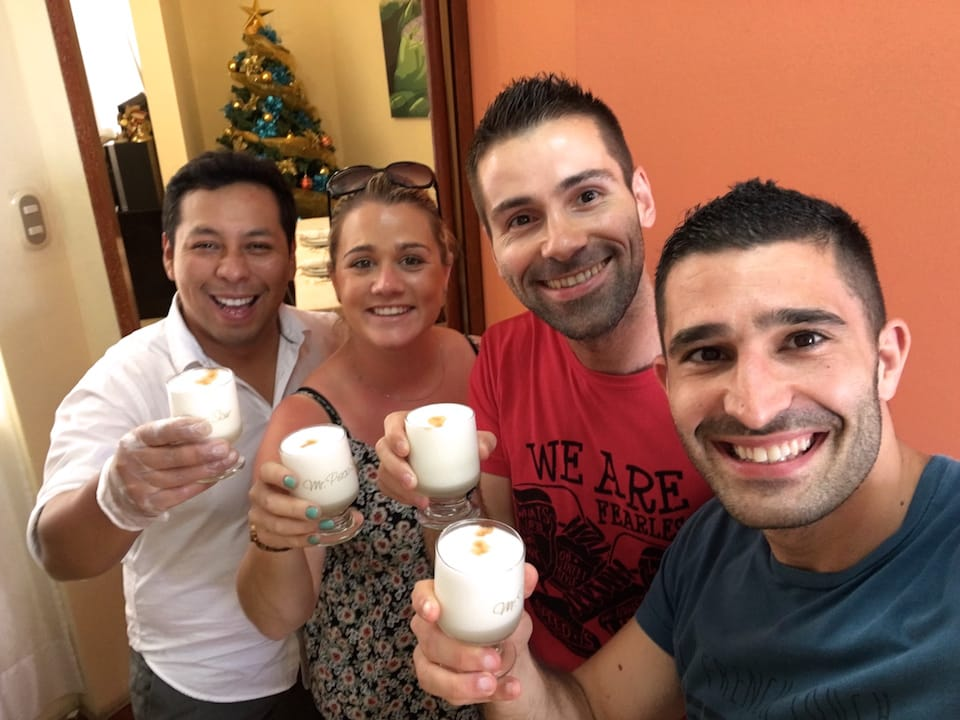 Pisco Sour recipe Peru with Aaron