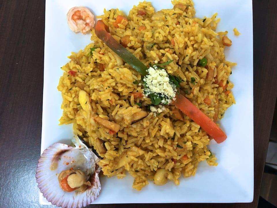 Chaufa de mariscos one of 10 famous foods from peru
