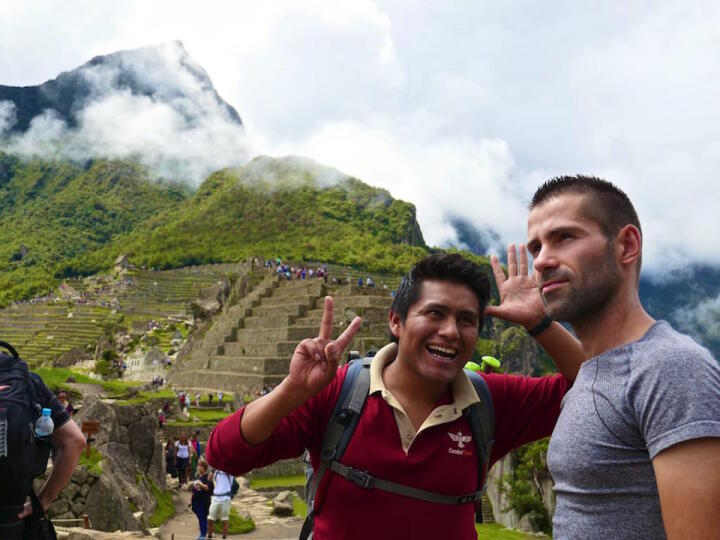 Darwin guide on inca trail to machu picchu
