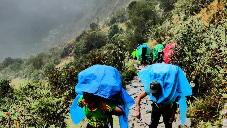 Porters on our Inca Trail