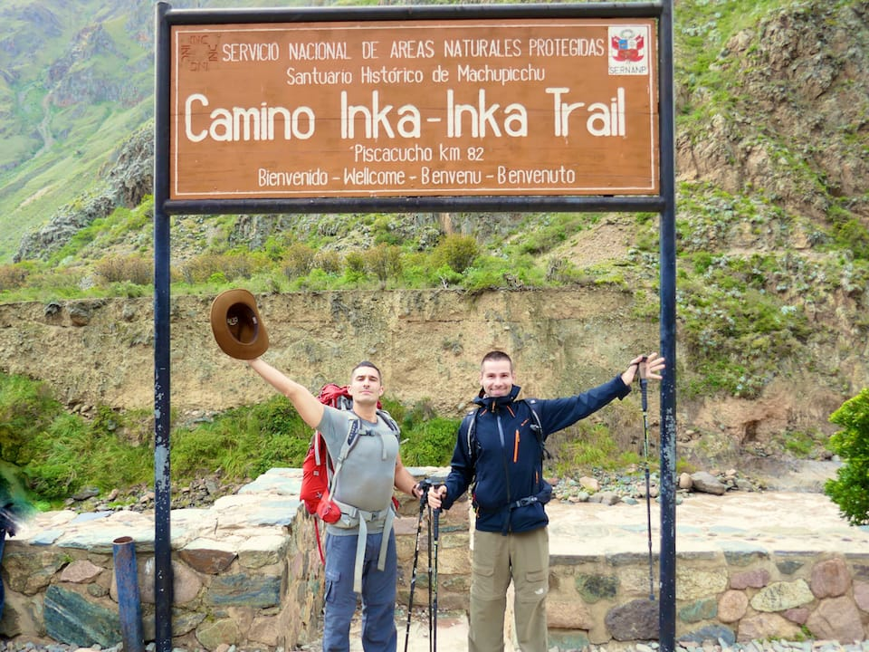 Inca Trail in January starting point