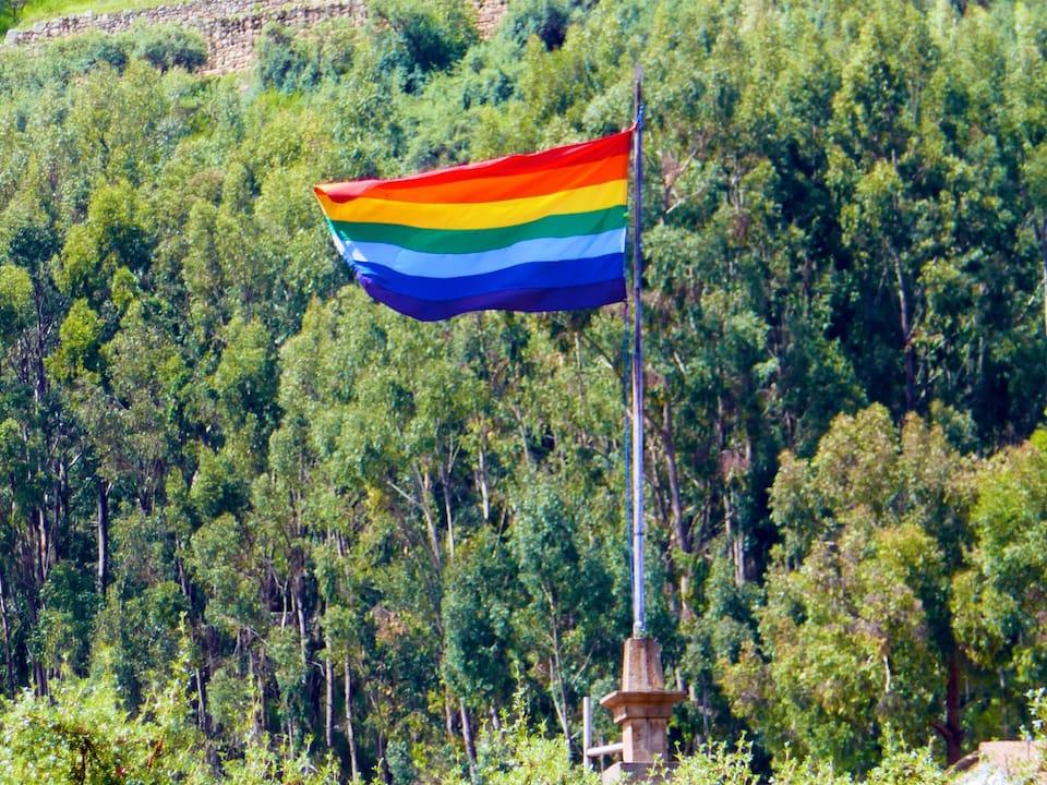 cusco gay guide rainbow inca flag