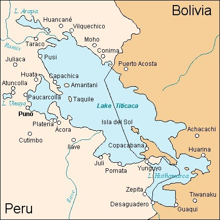 Map for is it worth going to lake titicaca