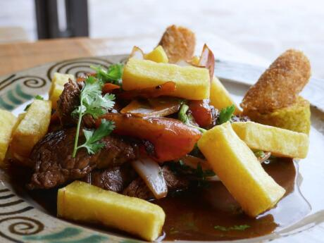 llomo saltado is a famous and delicious food from Peru you need to try!