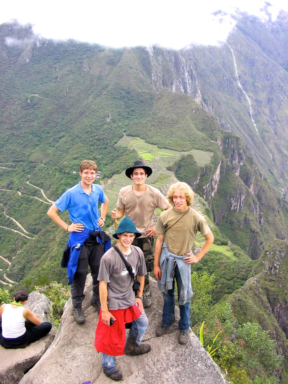 Inca trail in dry season May