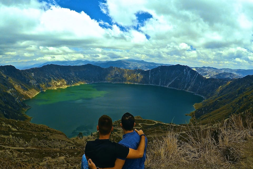 Quilotoa Lake view one of 6 awesome things to do in Ecuador