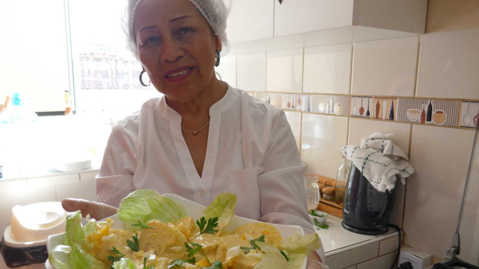 Papa a la huancaina is one of Peru's best dishes, made from their potatoes!