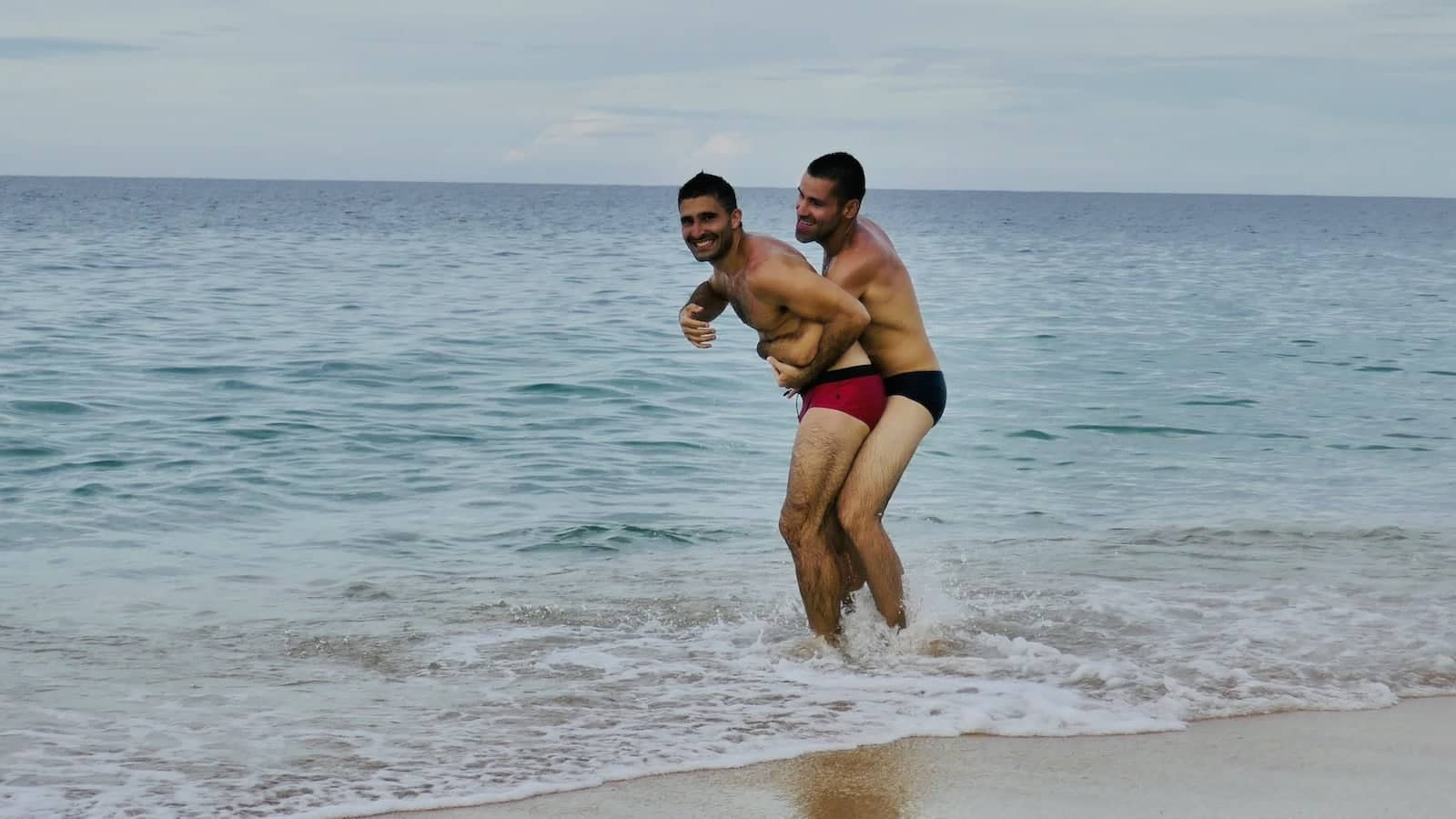 Es cavallet beach is where all the gays go in the summer to show off their speedos