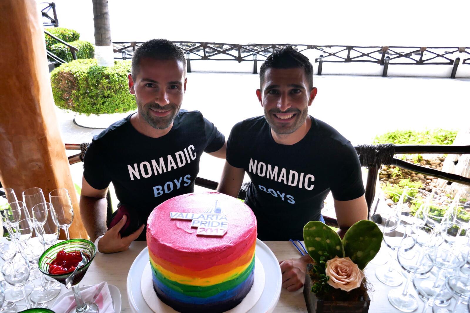 Puerto Vallarta gay pride nomadic boys rainbow cakes