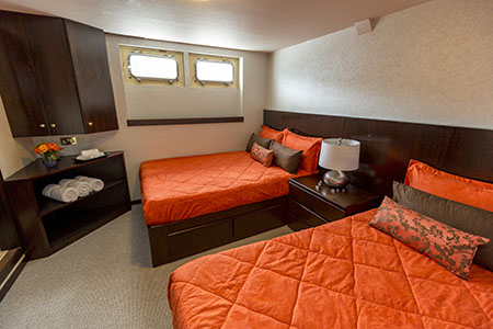 Stateroom M/Y passion Galapagos gay cruise