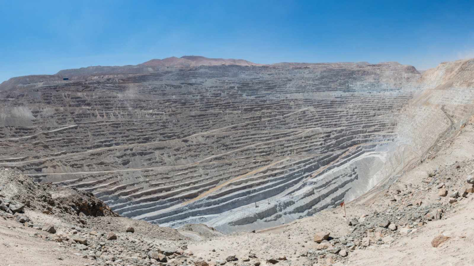 The largest copper mine in the world is Chuquicamata in Chile
