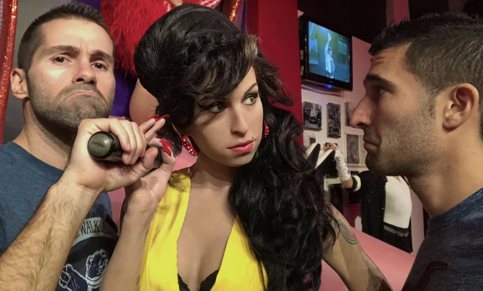 Amy Winehouse gay icon at Madame Tussauds