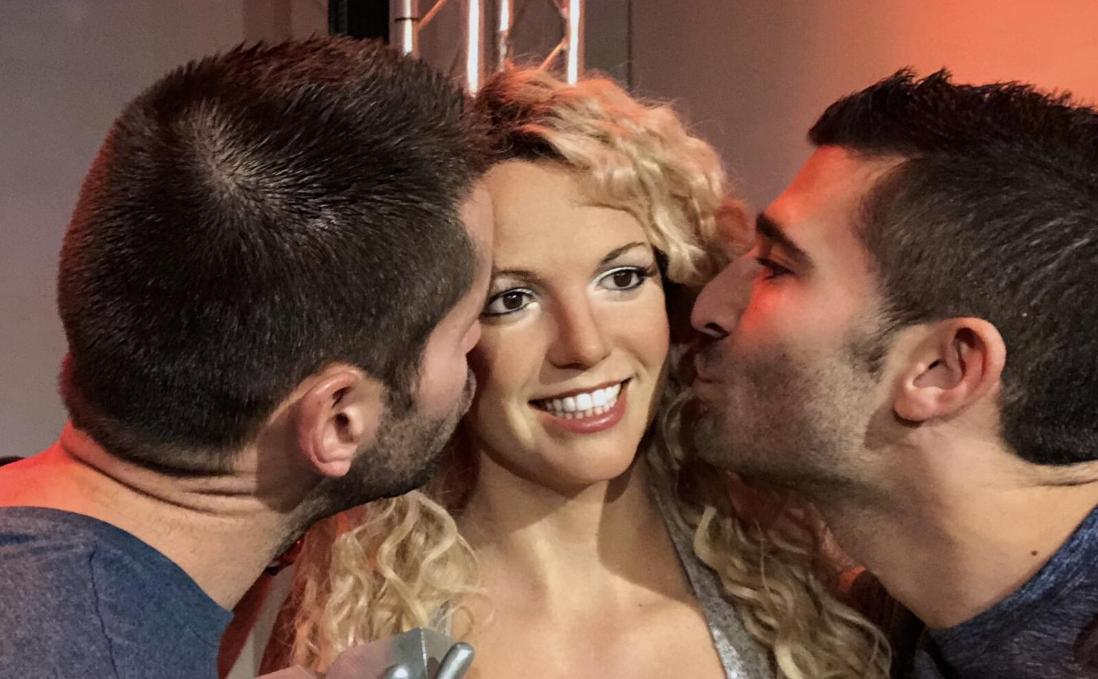 Britney gay icon at Madame Tussauds London