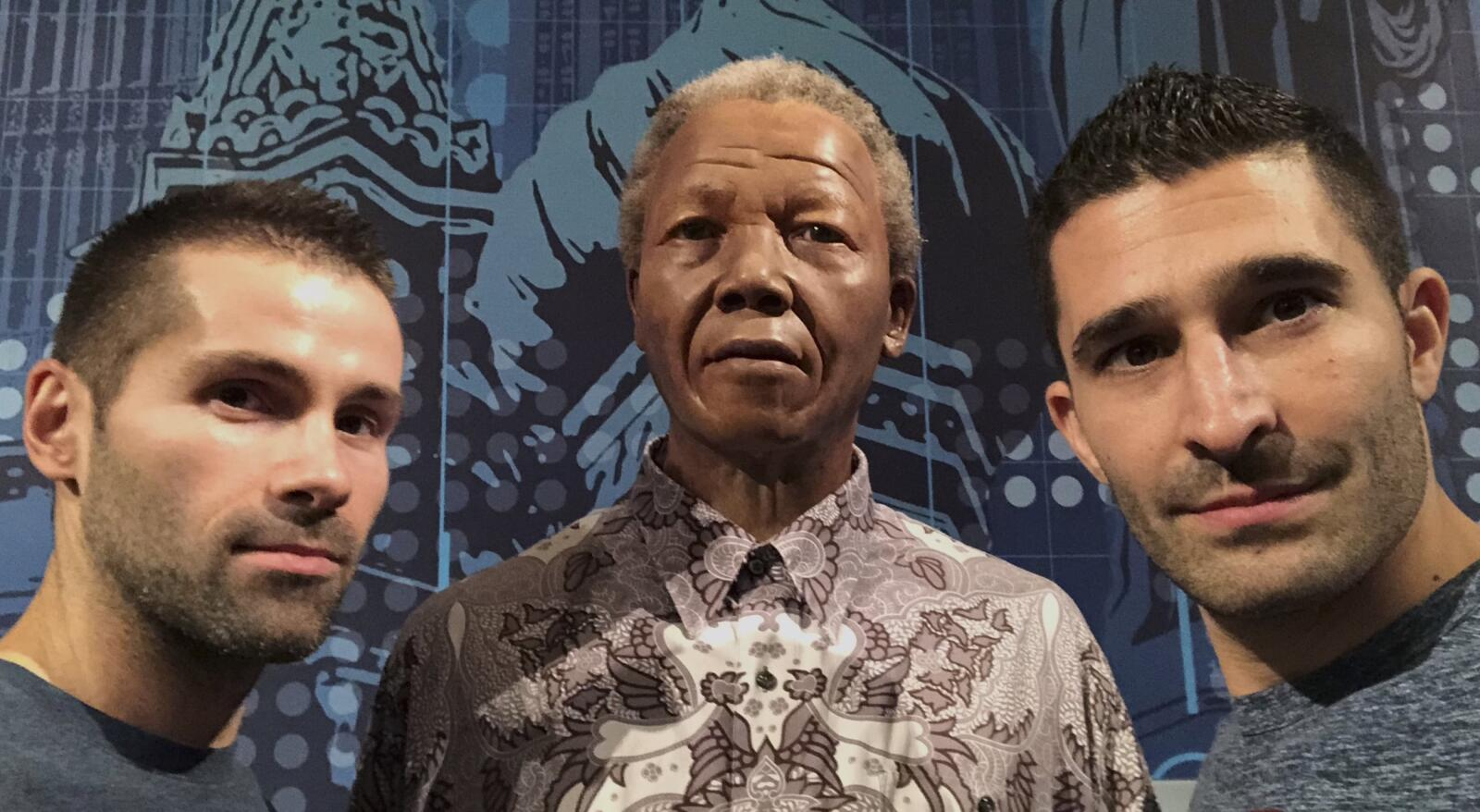 Nelson Mandela gay icon at Madame Tussauds