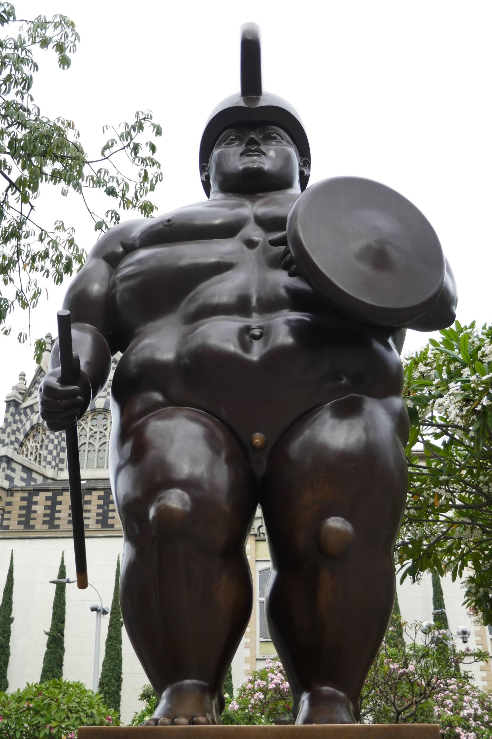 Plaza Botero one of 10 interesting facts about Colombia