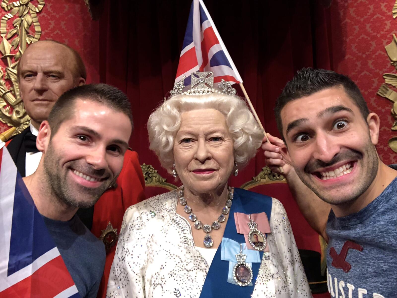 Queen Elizabeth gay icon at Madame Tussauds