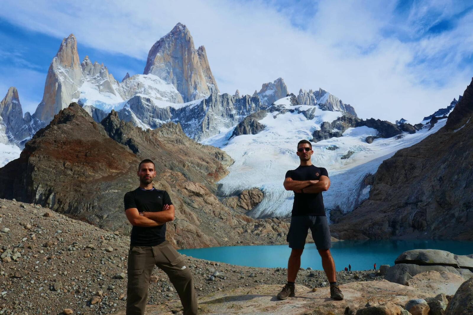Trekking in Patagonia, a highlight of South America.