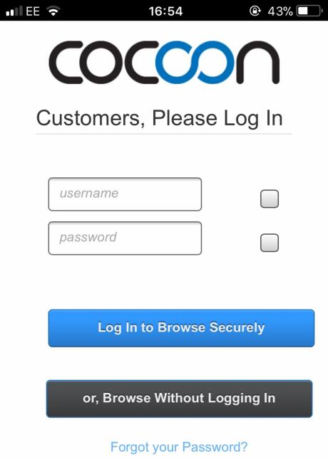 Cocoon internet browser mobile version