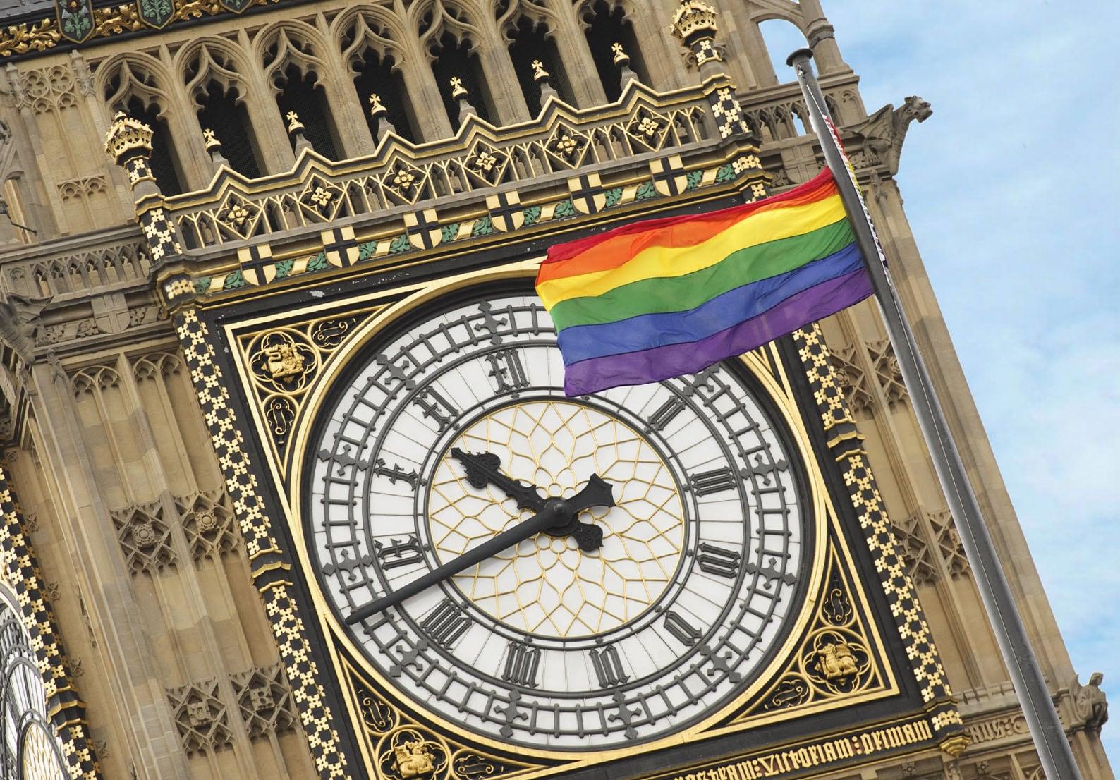 sightseeing highlights of London Pride at Parliament