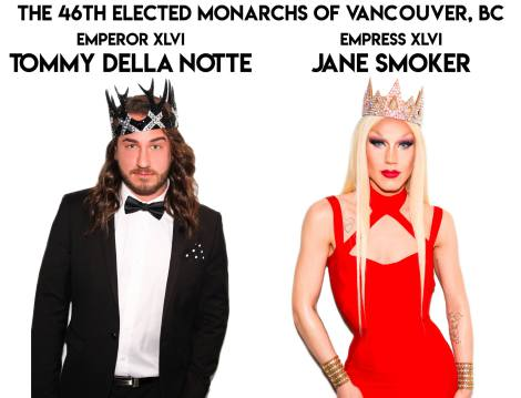 Gay Vancouver Coronation Ball monarchs