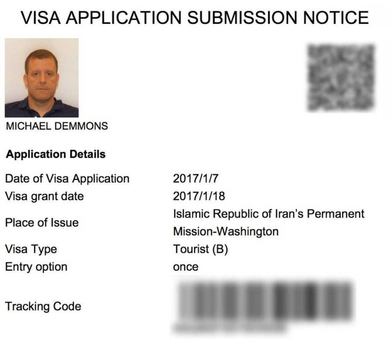 Gay Iran visa application