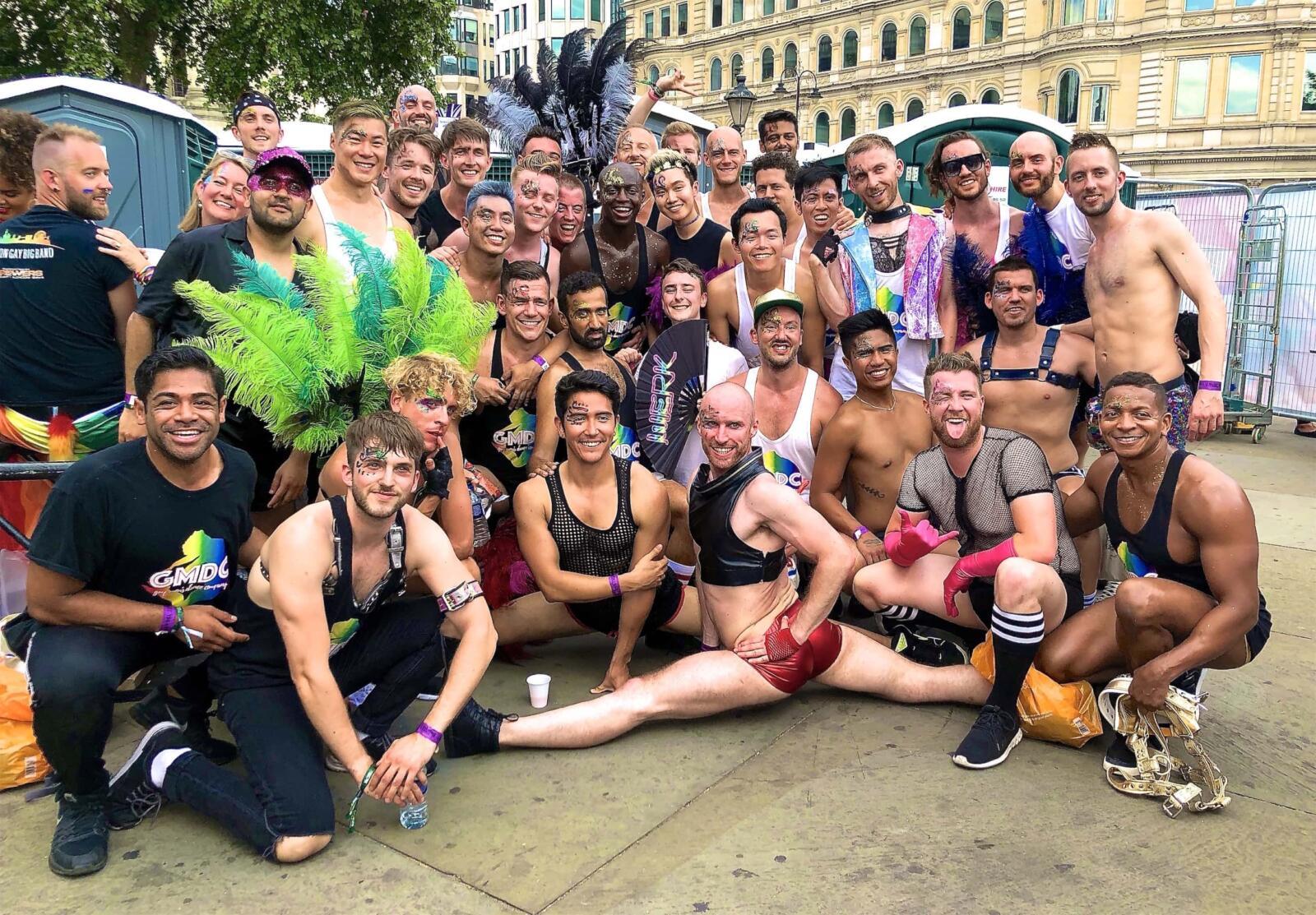 gay Pride London Gay Men's Dance Company performers