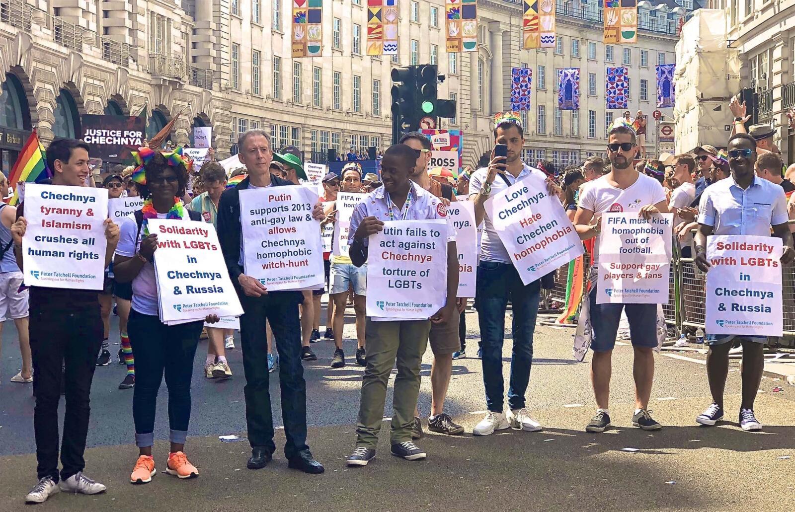 London gay pride parade protest
