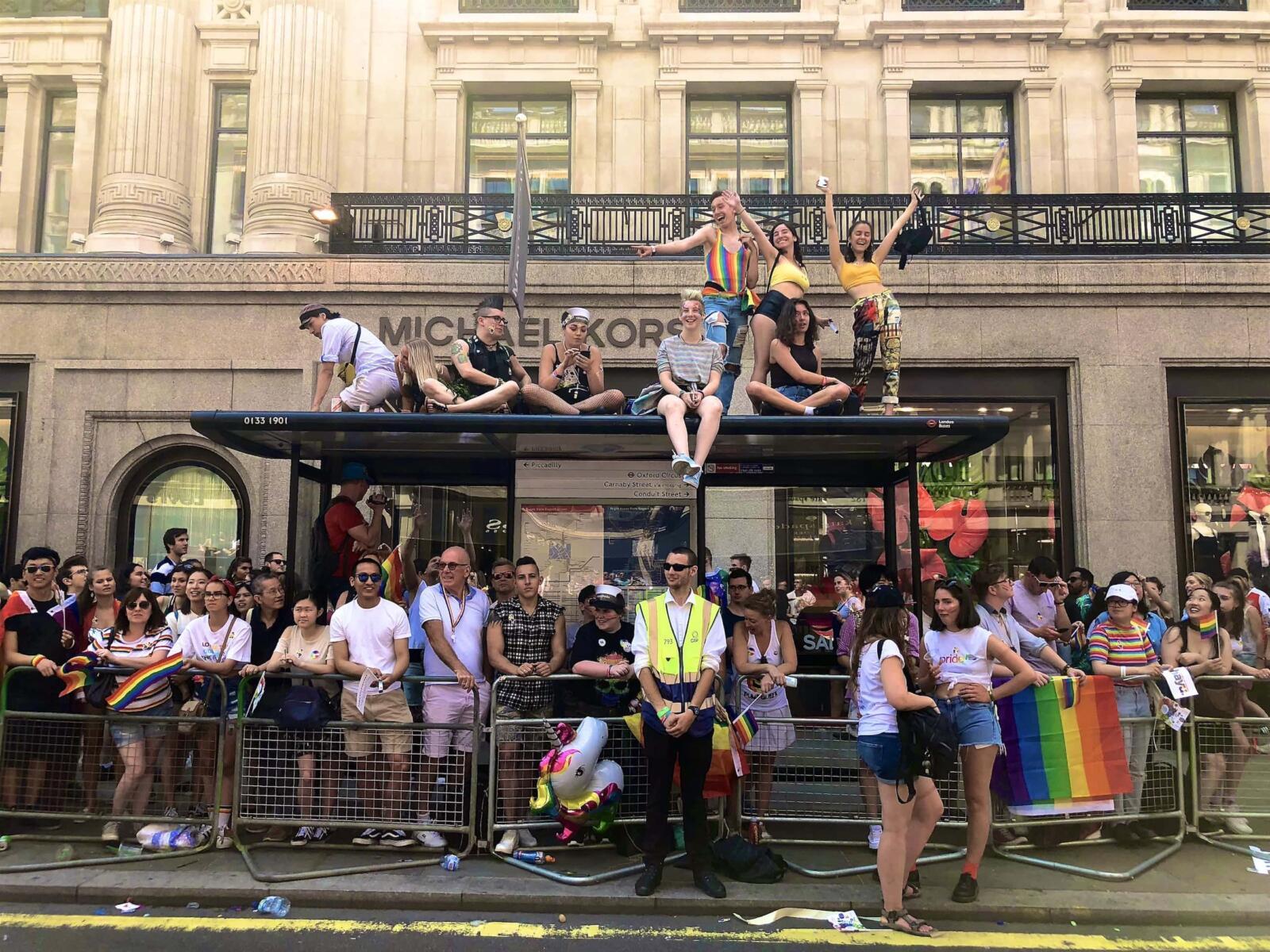 Huge crowds during Pride in London