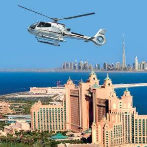 An experience not to be missed in Dubai is the chance to fly over the city in a helicopter.