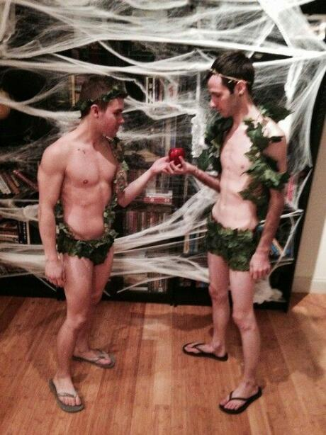Adam and Steve one of best gay couple halloween costumes top 10