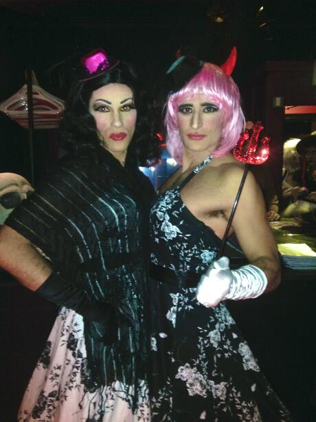 gay couple Halloween costumes drag