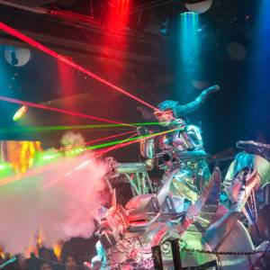 Tokyo's robot restaurant is a very quirky attraction with an incredible neon light and sound show.