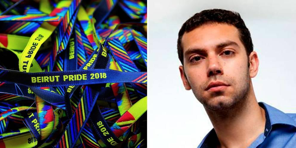 Beirut Pride 2018 wristbands and its founder Hadi Damien