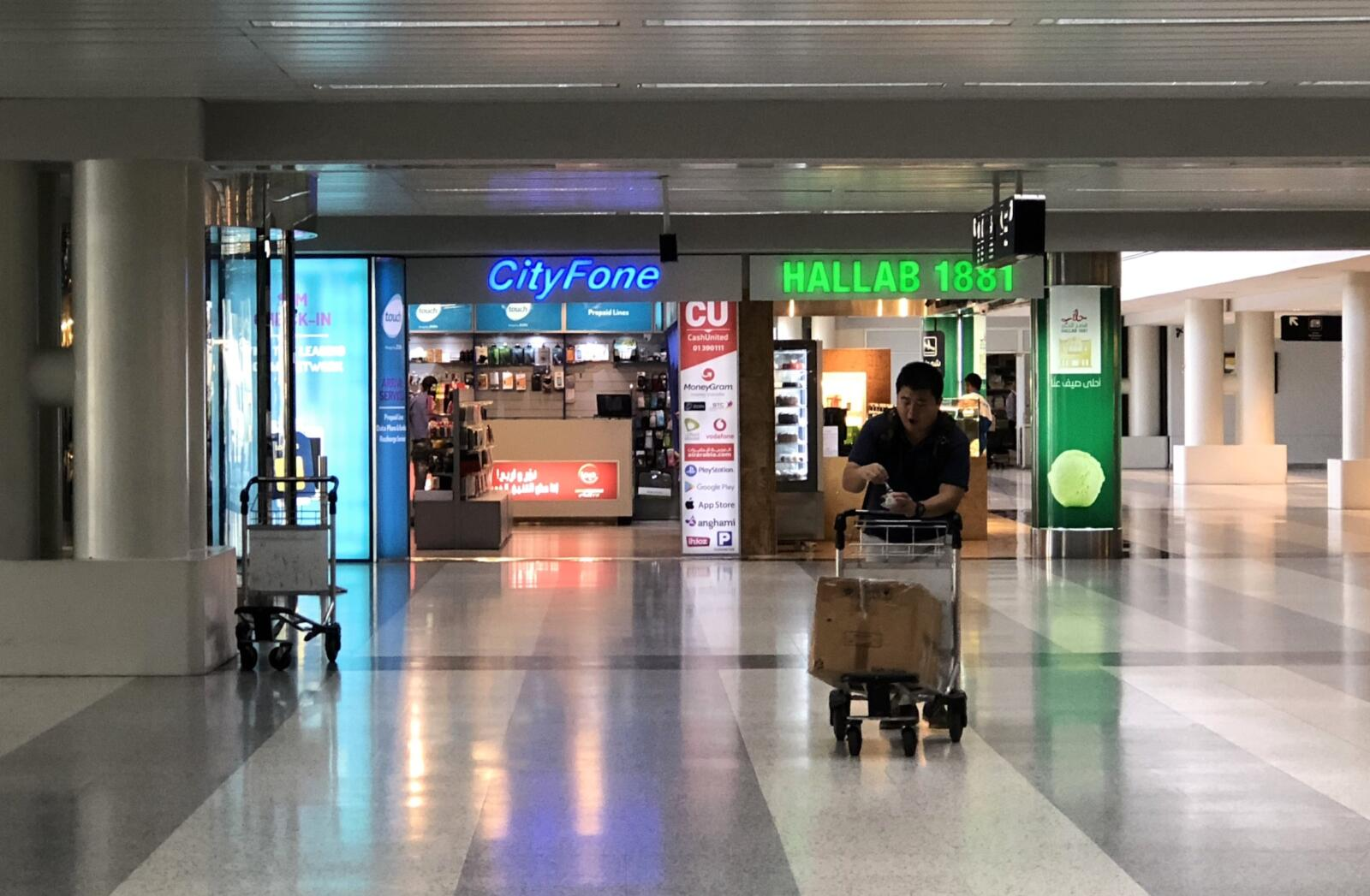 The CityFone shop in the Arrivals Halls at Beirut airport