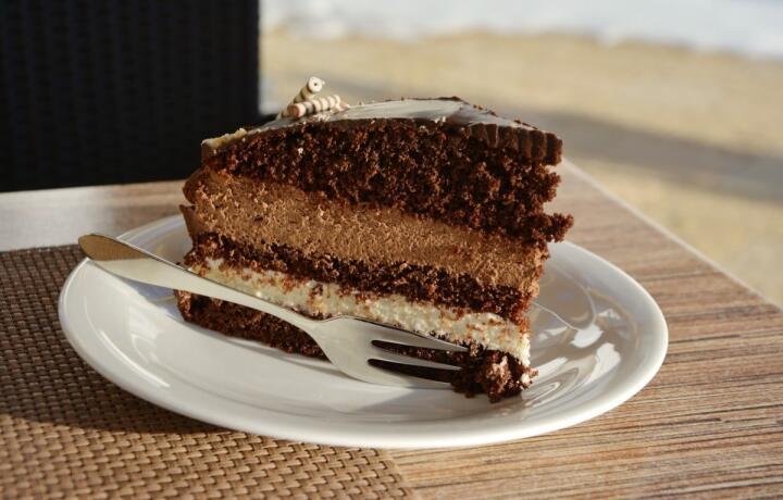 Italian cassata cake ready to eat